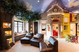 view in gallery amazing kids room design with tree trunk shelves and painted ceiling design mountain amazing kids bedroom
