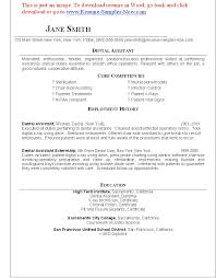 assistant resume templates dental  seangarrette codental assistant resume templates free dental assistant resume