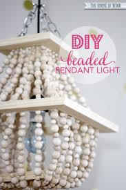 i am in love with this diy beaded light fixture tutorial at wwwjenwoodhouse beaded lighting