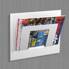 magazine rack wall mount: wall mounted single tier magazine rack