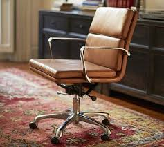 nash leather swivel desk chair potterybarn like this one a lot it also looks brown leather office chairs