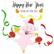 Premium Vector | Cute <b>funny pig</b> happy on chinese new year cartoon.