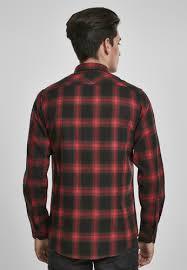 <b>Рубашка URBAN CLASSICS Checked</b> Flanell Shirt 6 Black/Red ...