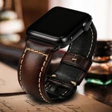 <b>MAIKES</b> Vintage genuine cow leather <b>watch accessories</b> for apple ...