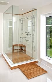 Contemporary Showers Bathrooms Contemporary Shower Bench Polleraorg