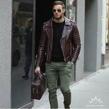 Men's fashion: лучшие изображения (26) | Man fashion, Leather ...