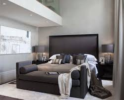 couch bedroom sofa: dark modern black white interior bedroom couch sofa