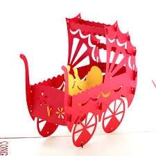 congratulations baby boy promotion shop for promotional 3d pop up greeting card baby shower carriage congratulation birthday christmas