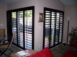 patio sliding glass doors sliding glass doors shutters with black color ideas and wooden pattern fence outside