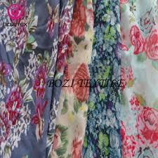 <b>Floral</b> Printed <b>Chiffon Dress Fabric</b> Faux Silk <b>Fabric</b> - Buy Printing ...