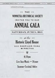 whs annual gala the people s party winnetka historical society formal invitation