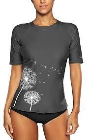 <b>ATTRACO Women</b> UV Rash Vest Short Sleeve <b>Rash Guard</b> Swim Top