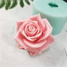 Nicole Silicone Soap Molds 3D Rose Flower <b>Fondant Cake</b> ...