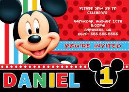mickey mouse invitation template mickey mouse clubhouse mickey mouse personalized invitations photo invitations ideas