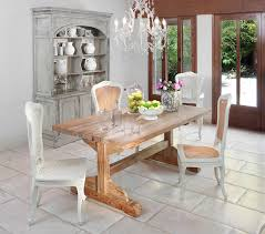 rustic hutch dining room: console arched hutch amp rustic table arrangement idea in contemporary dining room white