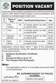 senior superintendent of police ssp office jobs  official advertisement for senior superintendent of police ssp office jobs 2017