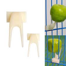 <b>2Pcs Pet Parrot</b> Fruit Fork Birds Food Holder Feeder Device Pin Clip ...