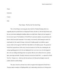 play critique my boy jack by david haig visual arts amp film  play critique my boy jack by david haig essay example