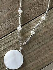 Mother of <b>Pearl Shell Beaded</b> Fashion Necklaces & Pendants for ...