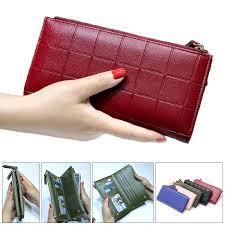 <b>women fashion pu leather</b> zipper pouch long wallet for samsung ...