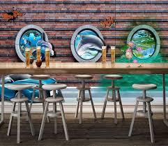 <b>3D Dolphin Lotus</b> 77   3d wall murals, Wall murals, 3d wall