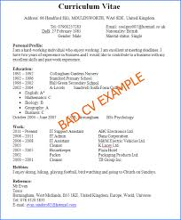examples of good and bad cvs   cv plazapreview of a bad and horrible cv example and how not to write a cv