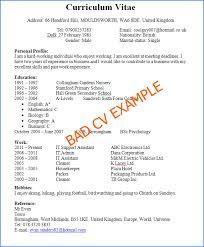 examples of good and bad cvs   cv plazaexample of a bad cv