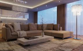 ambient and decorative lighting applied for serene ambiance and luxury image of contemporary apartment living room ambient room lighting