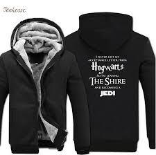 <b>Hogwarts Star Wars Jedi</b> Creative Funny Hoodies Coat 2018 Winter ...