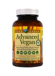 <b>Advanced Vegan</b> Multi-Vitamin Dietary Supplement - <b>60 Vegetarian</b> ...