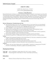 resume examples  summary of qualifications resume example customer        resume examples  summary of qualifications resume example with relevant skills as business management and design