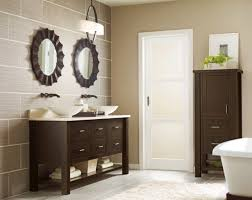 wood bathroom mirror digihome weathered: accessories vintage round bathroom mirror with black floor also