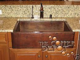 hammered copper kitchen sink: copper kitchen sinks copper farmhouse sink