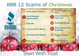 bbb s annual 12 scams of christmas