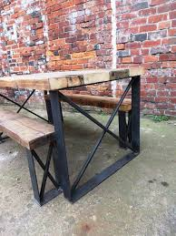 quality small dining table designs furniture dut: reclaimed industrial chic  seater solid wood and metal dining table  cafe bar restaurant furniture steel and wood made to measure