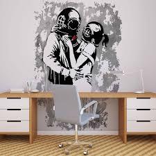 <b>Banksy Graffiti Wallpaper</b> Mural