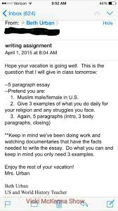 high school writing assignment asks students to pretend you are a
