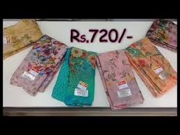<b>New Arrival</b> floral print <b>metal</b> chiffon saree <b>collection</b> | klmn <b>fashion</b> ...