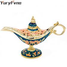 YuryFvna Colorful <b>Metal Aladdin Magic Lamp</b> Retro Wishing Oil ...
