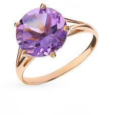 Золотое <b>кольцо</b> с <b>аметистом</b> SUNLIGHT К-7910_04*: красное и ...