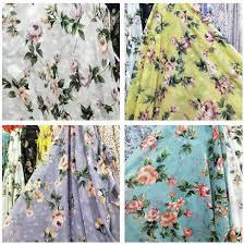50D printed <b>thin Chiffon small</b> Floral Printed <b>Chiffon shirt</b> fabric ...
