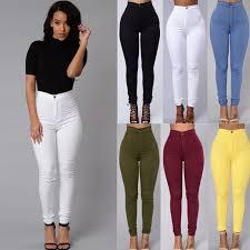 HOT SALE <b>Women Denim Skinny Jeggings Pants</b> High Waist ...
