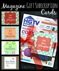 magazine gift subscription cards tags printables hipsave magazine gift subscription cards printable hip2save