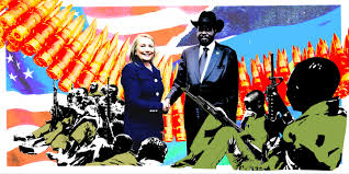 Image result for SOUTH SUDAN LEADER WITH HILLARY CLINTON PHOTO
