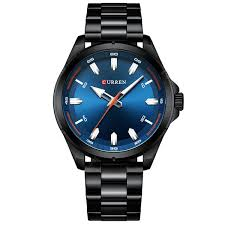 <b>CURREN</b> 8320 Male Large Dial <b>Simple</b> Business Quartz Watch ...
