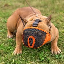 Breathable Mesh Short-nose <b>Pet Dog Muzzles Adjustable</b> French ...
