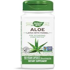 Nature's Way <b>Aloe Latex with Fennel</b> -- 140 mg - 100 Vegetarian ...