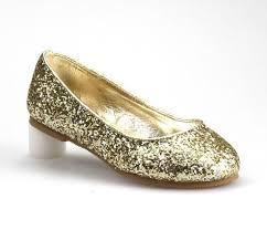 <b>Girl's Light</b> Gold Glitter Fashion Shiny Sparkly Slip on <b>Flat Shoes</b> ...