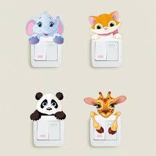 Cute Animals Elephant Cat Panda Giraffe Removable <b>Wall Switch</b> ...