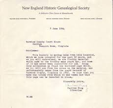 early warwick co records added to lost records digital collection letter from the new england historic genealogical society concerning the warwick county va